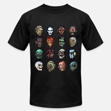 1f55b1eb Halloween Movie Horror Movie Monster Masks (color) - Men's Jersey.  Men's Jersey T-Shirt