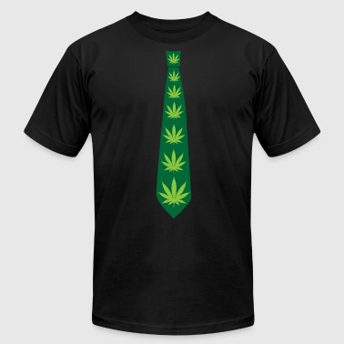 Weed Tie - Cannabis Leave THC CBD Fourtwenty Smoke - Men's Fine Jersey T-Shirt