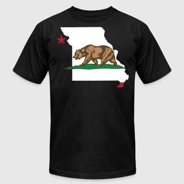 Missouri California Funny Pride Flag Apparel - Men's Fine Jersey T-Shirt