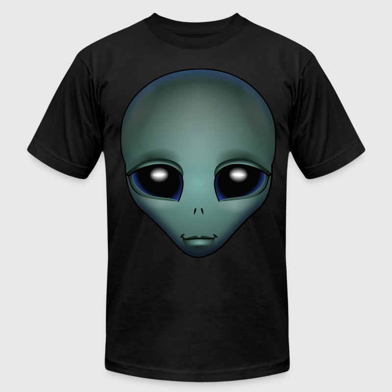 Alien Shirts Friendly Grey Alien Extraterrestrial Shirts - Men's Fine Jersey T-Shirt