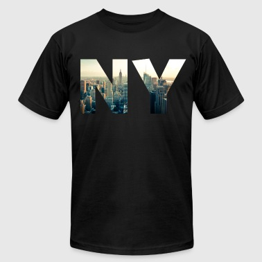 NY for NEW YORK - Men's Fine Jersey T-Shirt