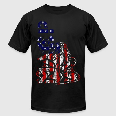 MACP Fighter Flag Distressed Slim Fit - Men's Fine Jersey T-Shirt