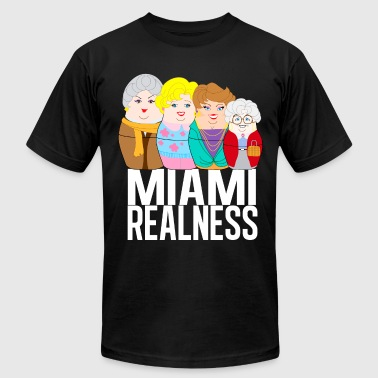 Miami Realness black - Men's Fine Jersey T-Shirt