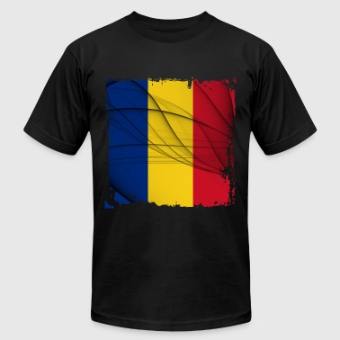 Romania Flag - Men's Fine Jersey T-Shirt