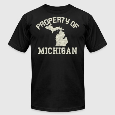 Distressed Property of Michigan - Men's Fine Jersey T-Shirt