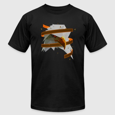3D Art Polygonal Animal - Eagle - Men's Fine Jersey T-Shirt