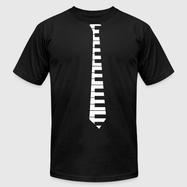 Keyboard Piano Tie - Men's Fine Jersey T-Shirt