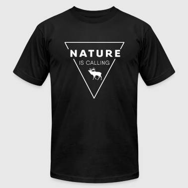 Nature Lovers Nature lover - Nature is calling - Men's Fine Jersey T-Shirt