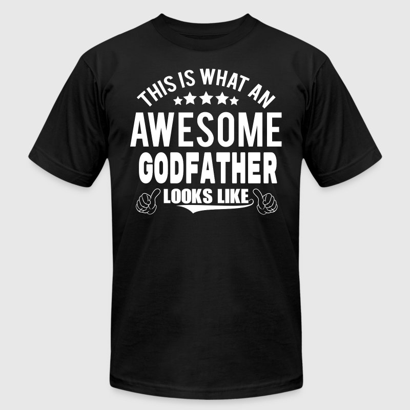 THIS IS WHAT AN AWESOME GODFATHER LOOKS LIKE - Men's Fine Jersey T-Shirt