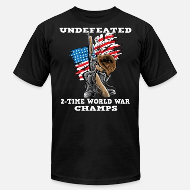 World War Ii Veteran Undefeated World war 2 veteran - Men's Fine Jersey T-Shirt