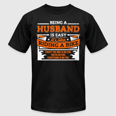 Marriage Slave Husband Shirt: Being A Husband Is Easy - Men's Fine Jersey T-Shirt
