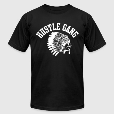 Hustle Gang Indian Hustle Gang Black Size Hustle T Shirts - Men's Fine Jersey T-Shirt