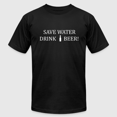 save water drink beer present - Men's Fine Jersey T-Shirt