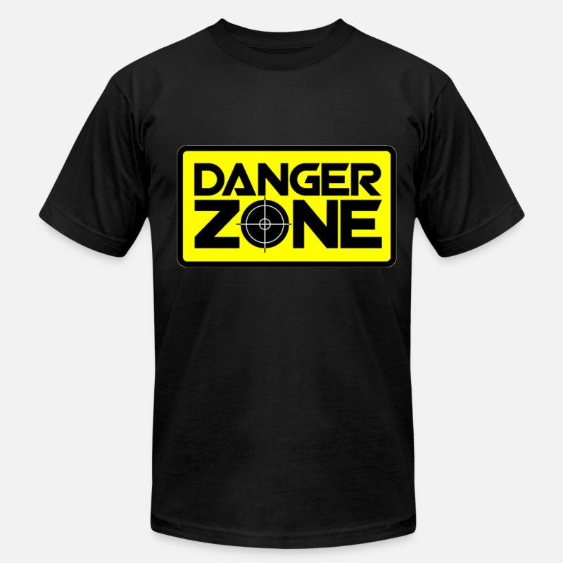 Cool T-Shirts - Danger Zone. - Men's Jersey T-Shirt black
