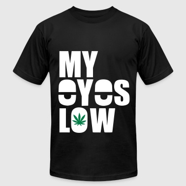 My Eyes Low Weed 420 Stoned - Men's Fine Jersey T-Shirt