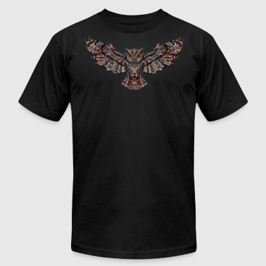 Owl art - Men's Fine Jersey T-Shirt