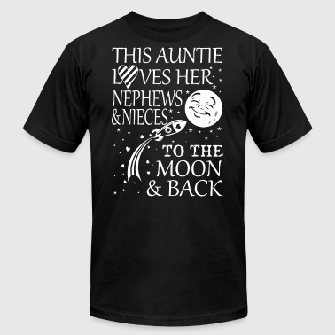 Niece Nephew This auntie loves her nephews and nieces to the mo - Men's Fine Jersey T-Shirt