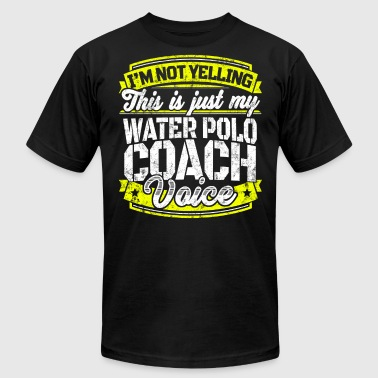 Funny-polo-shirts Funny Water Polo coach: My Water Polo Coach Voice - Men's Fine Jersey T-Shirt