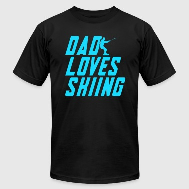 Skiing Dad Dad Loves Skiing - Men's Fine Jersey T-Shirt
