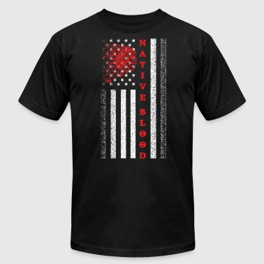 Blood Of American NATIVE BLOOD - NATIVE AMERICAN - Men's Fine Jersey T-Shirt