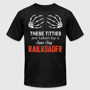 Sexy Sportswear These Titties are taken by a Super Sexy Railroader - Men's Fine Jersey T-Shirt