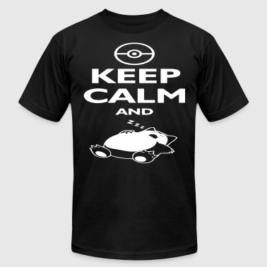 Snor Poke mon Keep Calm And Sleep Tee Men's Snor lax - Men's Fine Jersey T-Shirt