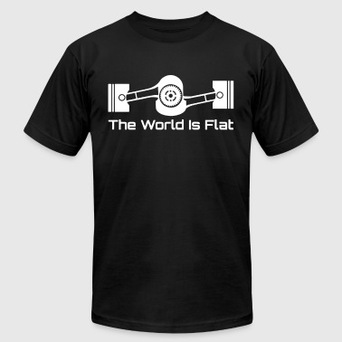 Jdm Brz The World Is Flat Graphic Tee Subaru Boxer Engine - Men's Fine Jersey T-Shirt