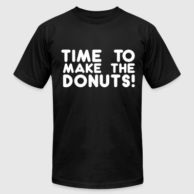 Dunkin Donuts Funny Time To Make The Donuts Tee Doughnuts Funny Geek D - Men's Fine Jersey T-Shirt