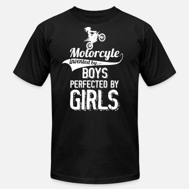 Girls Invent Motorcyle Invented By Boys Perfected By Girls - Men's Fine Jersey T-Shirt