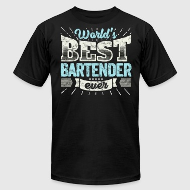 Worlds Best Bartender Worlds Best Bartender Ever Funny Gift - Men's Fine Jersey T-Shirt