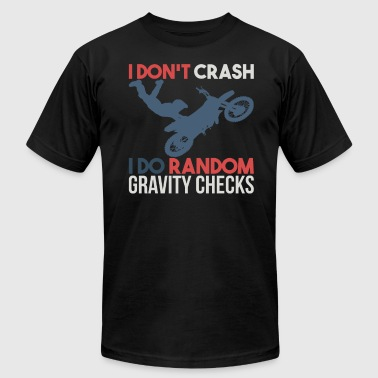 Random Gravity Checks DIRT BIKING: Random Gravity Checks - Men's Fine Jersey T-Shirt