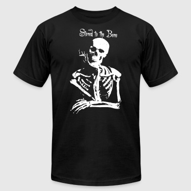 Dope Joint Skeleton Dope Cannabis Joint Spliff Stoned - Men's Fine Jersey T-Shirt