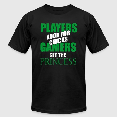 Player Gamer PLAYERS LOOK FOR CHICKS GAMERS - Men's Fine Jersey T-Shirt