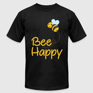Bee Lover Bee Happy, Bumble Bee, Bee Lover, Bumble Bee Gift - Men's Fine Jersey T-Shirt