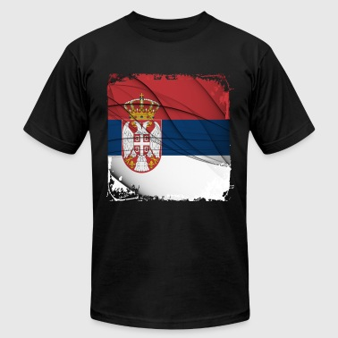 Serbia Flag - Men's Fine Jersey T-Shirt
