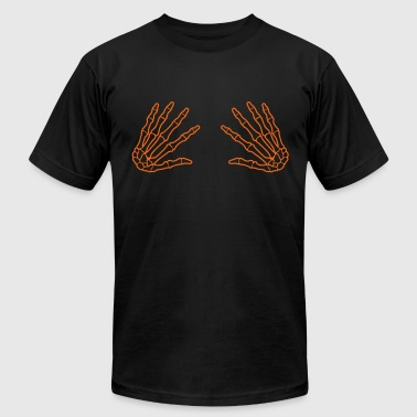 skull grab hands - boobgrabber - Men's Fine Jersey T-Shirt