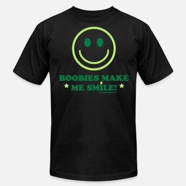 Breast Smiley Boobies Make Me Smile - Men's  Jersey T-Shirt