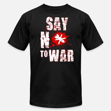 Human Rights Campaign SAY NO TO WAR HUMAN RIGHT CAMPAIGN - Men's Fine Jersey T-Shirt