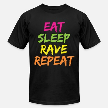 Eat Sleep Rave Repeat EAT SLEEP RAVE REPEAT - Men's Fine Jersey T-Shirt