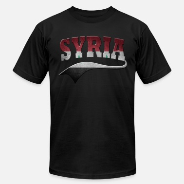 Flags Syria Syria - Men's Fine Jersey T-Shirt