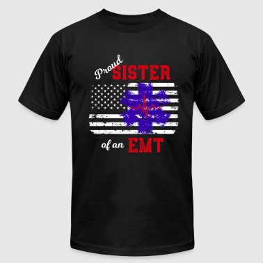 Proud Sister of an EMT Paramedic - Men's Fine Jersey T-Shirt