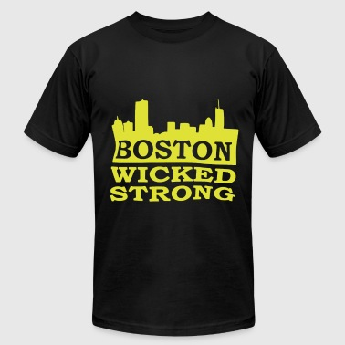 Boston Wicked Awesome Boston Wicked Strong Marathon Boston Marathon Bost - Men's Fine Jersey T-Shirt