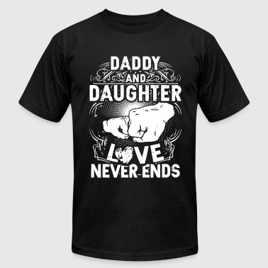 daddy and daughter love never end daughter - Men's Fine Jersey T-Shirt