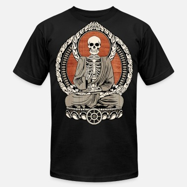 Skeleton Buddha Starving Buddha - Men's  Jersey T-Shirt