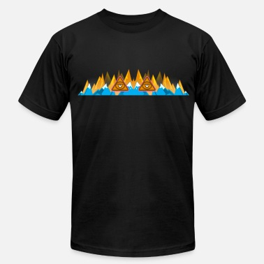 Sweg Illuminati Mountains - Men's Jersey T-Shirt