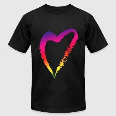Backpacker Gay Pride Gay Pride Equality Rainbow Love Lip Men Birthday P - Men's Fine Jersey T-Shirt