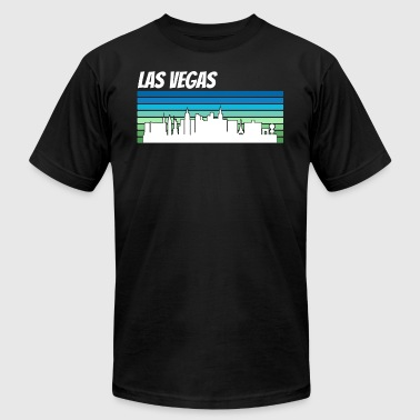 Retro Vegas Retro Las Vegas Skyline - Men's Fine Jersey T-Shirt