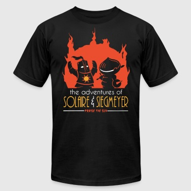 Solaire The adventures of solaire and siegmeyer praise the - Men's Fine Jersey T-Shirt