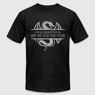 I Was Lightning Before The Thunder White Dragon b - Men's Fine Jersey T-Shirt