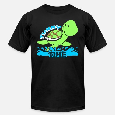 Tummy TUMMY TIME BABY TURTLE SHIRT - Men's Fine Jersey T-Shirt